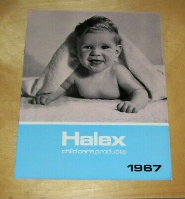 HALEX of Highams Park CHILD CARE PRODUCTS CATALOGUE 1967 Chair Brushes Mealtime