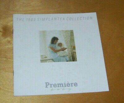 Premiere Baby The 1989 Simplantex  Babycare Collection Brochure