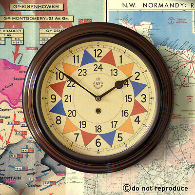 "RAF Royal Air Force 1940 Battle of Britain Sector Wall Clock 12"" Quality Reprod."