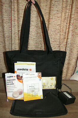 Medela Pump In Style Advanced Portable Tote Bag with accessories, EUC