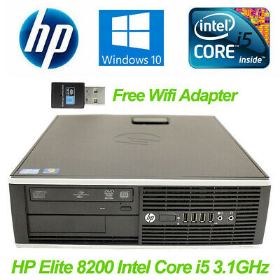 HP Elite 8200 SFF Desktop Intel Core i5-2400 3.1GHz 4GB 250GB HDD Win10 PC