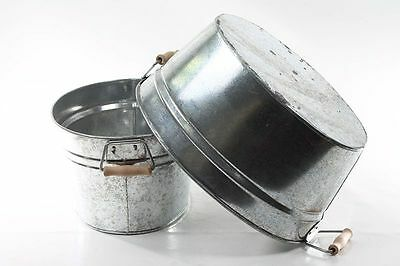 Beautiful Bathtub Aluminium Washtub Flowerpot Cachepot Plant Bowl Repro Bucket