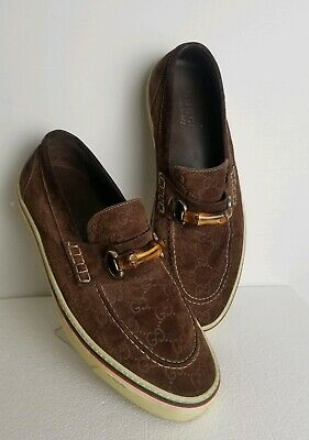 Men/'s EVERGREEN black brown red blue faux suede loafers slip ons style B1068