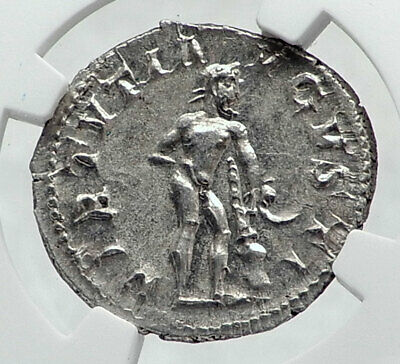 GORDIAN III Genuine Ancient Silver Roman Coin Farnese Hercules NGC MS i81362