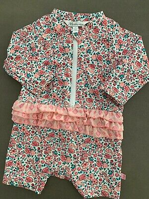 Super cute BEBE by Minihaha size 00 baby girls two piece swimsuit  EUC.