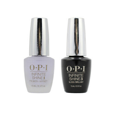 OPI Infinite Shine Base Coat & Top Coat Pack (15ml) Nail Polish Lacquer Enamel