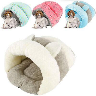 Pet Cat Dog Nest Bed Puppy Warm Soft Cave House Winter Sleeping Bag Mat Pad