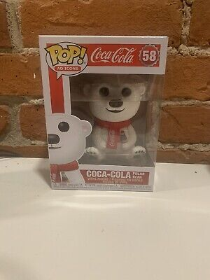 Funko POP! Ad Icons: Coca-Cola - Polar Bear #58 (Shipped In Protector!)