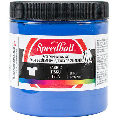 Speedball Art Products Stoff Siebdruck Tinte, 8-Ounce, Blau (465282)