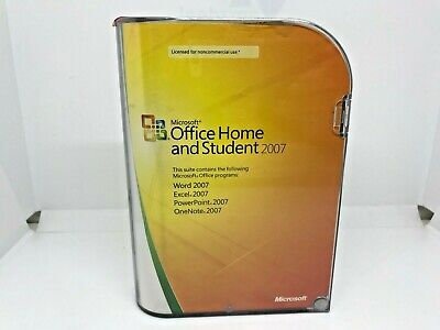 Microsoft Office Home and Student 2007 with Product Key (3-User)
