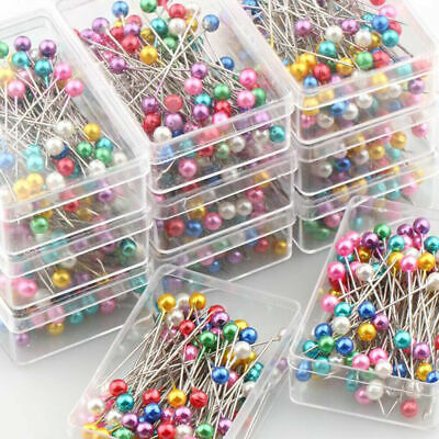 Dressmaker Accessories Sewing Pins Round Pearl Head Corsage Pin Wedding Florist