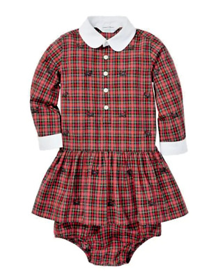 Ralph Lauren  Baby Girl's Plaid Poplin Cotton Dress & Bloomers Set