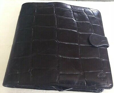 Vintage Mulberry  Black Congo Leather Collectable Organiser  1980s