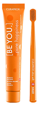 CURAPROX - BeYou Pure Happiness Toothpaste + Toothbrush PEACH & APRICOT 90ml