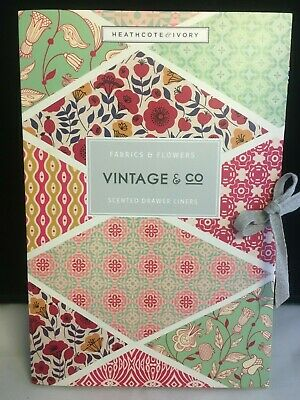 Heathcote & Ivory Fabrics + Flowers Vintage & Co Scented Drawer Liners x6 Sheets