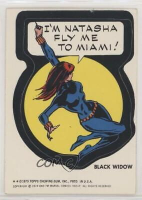 1975 Topps Marvel Comic Book Heroes White Back Black Widow Non-Sports Card f6p