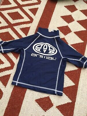 Aminal Rash Vest Boys Swim Sun Top Age 2