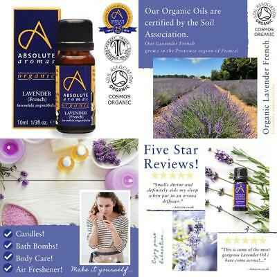 Organic Lavender French Essential Oil 10ml 100 Pure Natural Certified Organic An