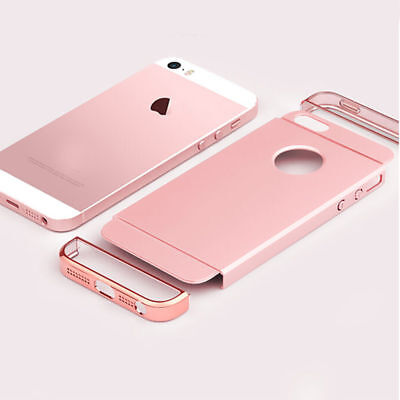 Case Ultra Thin Chrome Acrylic Hybrid Back Shockproof Cover For iPhone SE 5 5S