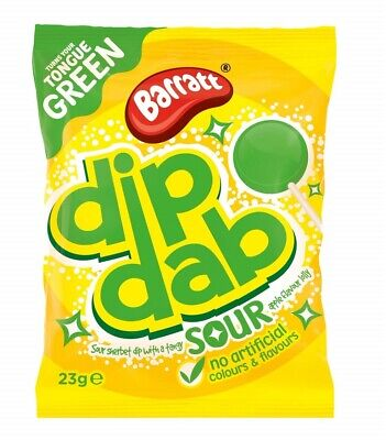 New - Candyland (Barratt) Sour Apple Sherbet Dip Dab X 24 Retro Sweets Party Bag