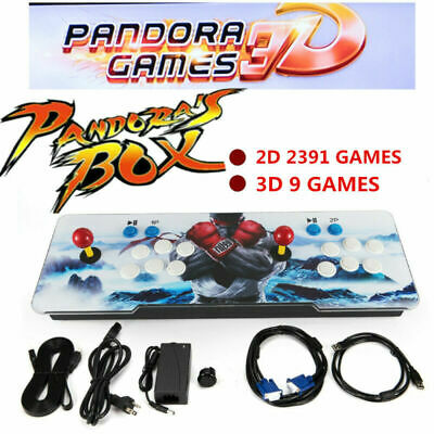 3D Plus Pandora's Box 2400 in 1 Video Games 2 Players Retro Arcade Console HD US
