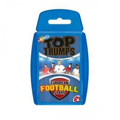 Euro Football Stars Top Trumps Playing Card Game 100% Official Merchandise Gift