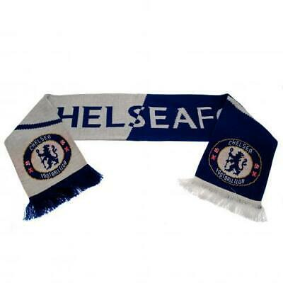 Chelsea FC Jaquard Knit Supporters Scarf Blue & White VT 100% Offical