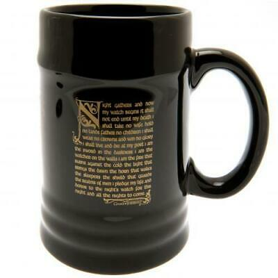 Game Of Thrones Souvenir Collectable Stein Mug Nights Watch 100% Offical