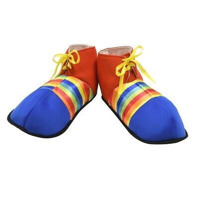 Jumbo Rainbow Striped Clown Shoes Adult Kids Party Halloween Costume Accessory