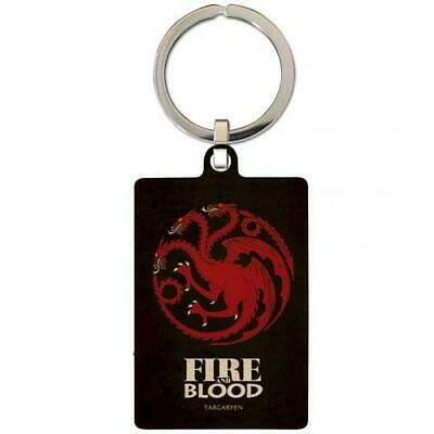 Game Of Thrones Souvenir Collectable Metal Keyring Key Ring Targaryen Official
