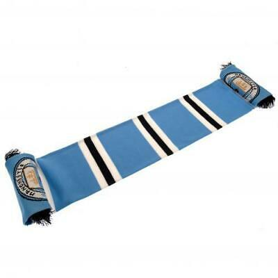 Manchester City Fc Man Sky Blue Supporters Collectors Bar Scarf St 100% Offical