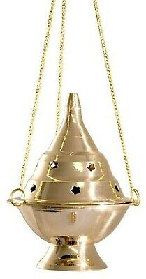 Brass Incense Censer Charcoal Incense Burner 5-6'' High Church Vestment Altar