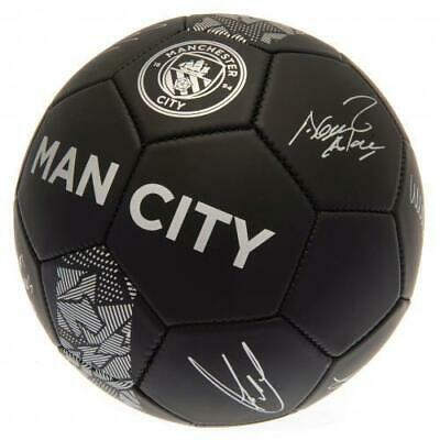 Manchester City Man Fc Football Size 5 Ball Printed Signatures Signed PH Gift