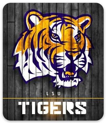 LSU State with Tiger Face Mascot and logo Magnet
