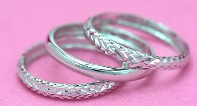 THIN NiceFeather STACKING TWISTED Ring Sterling Silver.925 Sizes 4,5,6,7,8,9,10,