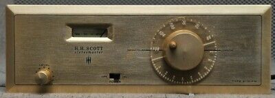 H. H. Scott 3110D-FM vacuum tube FM tuner working decently but ready for tuneup