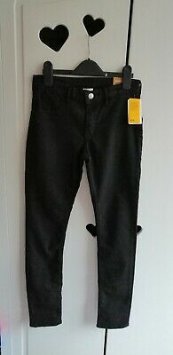 H&M Black Skinny Fit Jeans With Adjustable Waist Age 11 - 12 Years
