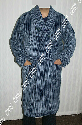 M & S Mens Supersoft Velour Luxury Pure Cotton  Bath Robe Dressing Gown RRP £59