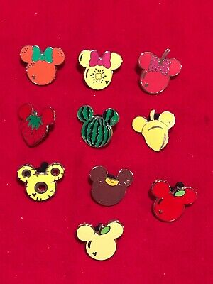 10 Disney pins  Food Mouse Ear Icons   As Seen  Lot x