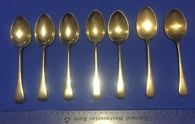 8 x Vintage Antique EPNS Silver Plate A1 Spoons (5 makes) RARE Cutlery Spoons ?