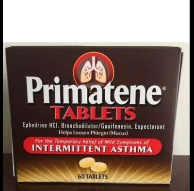 Primatene 2 Boxes Lot 120 Tabs New Boxes Expires 2021 Free Fast Shipping