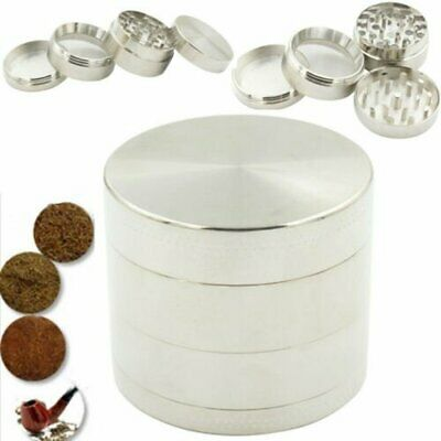 4-piece Metal Tobacco Herb Spice Grinder Herbal Alloy Smoke Chromium Crusher US