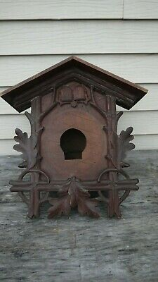 antique German black forest cuckoo & quail bird clock case