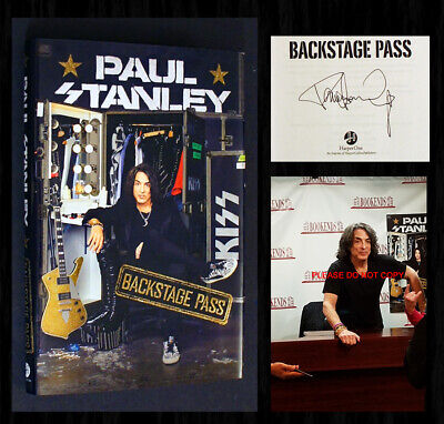 PAUL STANLEY SIGNED with Event Photos - Backstage Pass (KISS) 1st/1st!