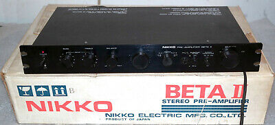 Nikko Beta II Solid State Stereo Preamplifier Rack Mount Preamp