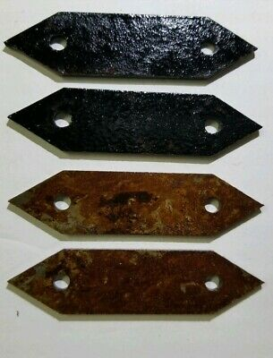 Set of 4, 3 inch flat bracets Decorative rustic metal iron hardware accent ,