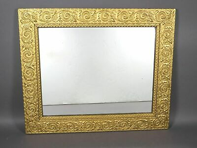 Vintage Large Gold Wooden Frame Ornate Antique Wall Mirror 31 x 26 Inches VM 017