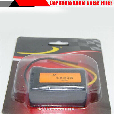 Car Stereo Radio Power Wire Engine Power Supply Noise Filter Suppressor isolator
