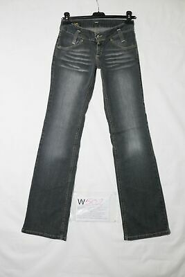 Lee BOOTCUT STRETCH usato (Cod.W502) W? L? denim jeans donna vita bassa nero
