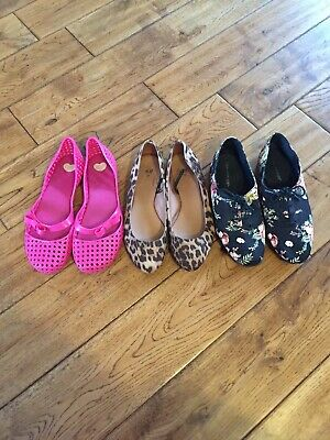 3 Pairs If Girls Shoes Pink Melissa Brand New, Size 3